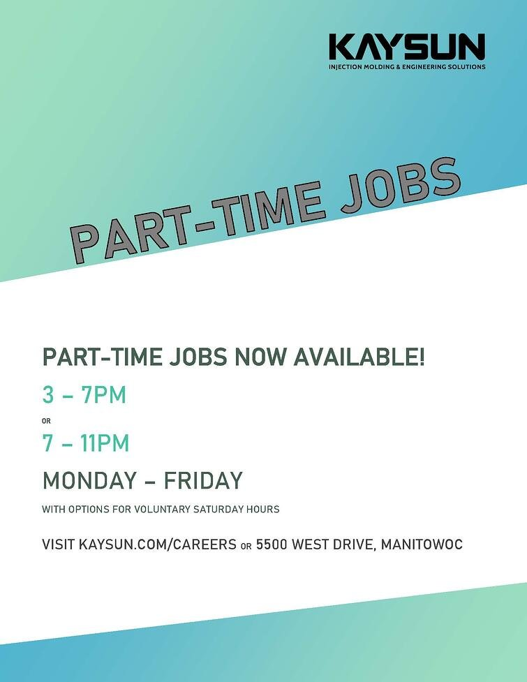 Part-Time Jobs 2nd shift