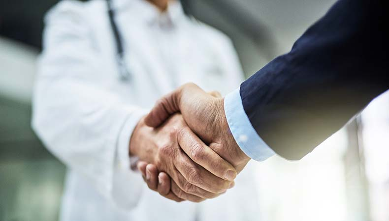 Handshake with medical injection molding partner