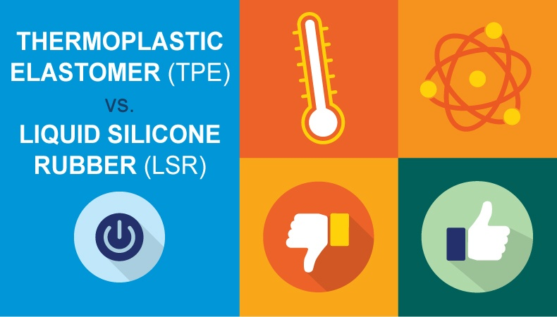 Thermoplastic Elastomer (TPE) vs Liquid Silicone Rubber (LSR)